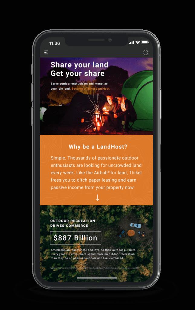 thiket mobile landhost